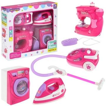 Sada domácich spotrebičov Vysávač Pračka Žehlička Šijací stroj