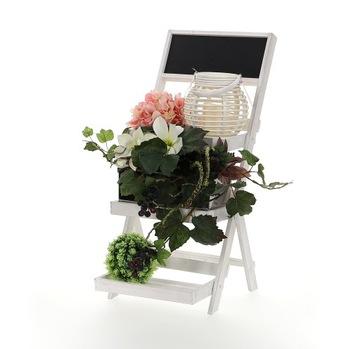 Drevený stojan read rebrík na kvety h = 68cm