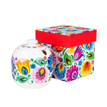 Sugarte s ľudovým vzorom - Łowickie kvety