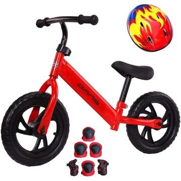 Detský bicykel pre učiacich sa + prilba + podložky