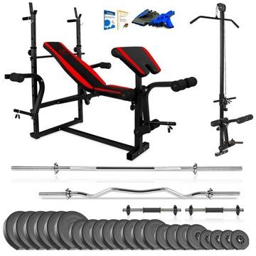 Xylo Gym 158 kg Bench + Gryfy + LOAD