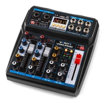 MIXER 4-CHANNEL DSP USB MP3 BT VONYX VMM-P500