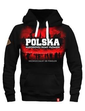 Patriotická mikina Polish Ultracoví fanúšikovia zápas Kibol