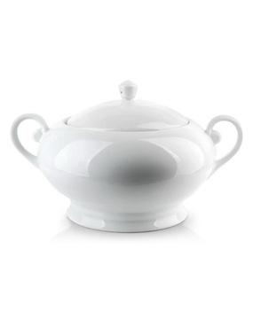 Biela váza pre 2,9 litrové polievky pre porcelánovú polievku