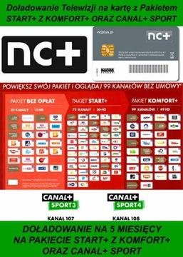 Domáce. Štart + karty s Comfort + a Canal + Sport na 5m