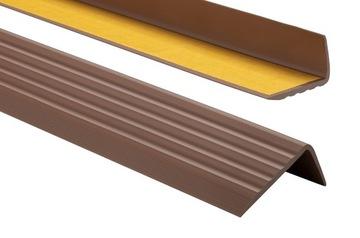 Protišmykový schodiskový profil 41x25 80cm hnedý