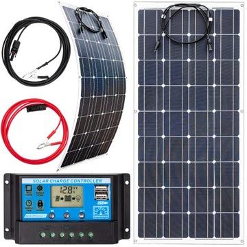 Solárna panelová batéria 100W 12 Flexibilná