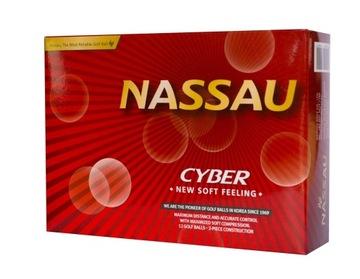 Nassau Cyber Golfové loptičky (biele)