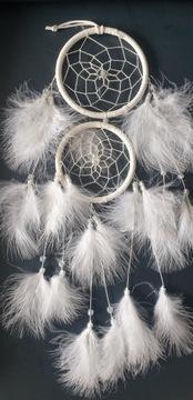 Lapač snov biele perie 50 cm