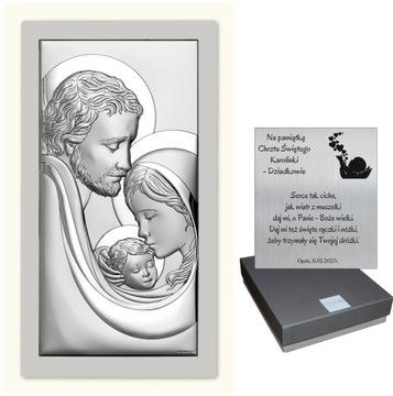 Silverfotografia Svätý rodina Svadobné krst Gravírovanie