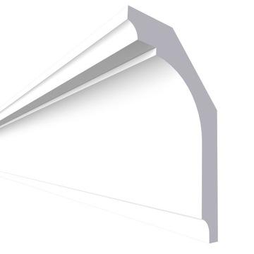 Laminátová stropná rímsa, fazetovaná LSUM8 10x6