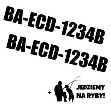 Registračné čísla na lodi lode, dve samolepky