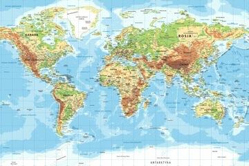 Svetové nástenné maľby mapy Poľska