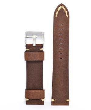 Remienok na hodinky 22 mm, Vintage HNEDÝ | Kožený nubuk