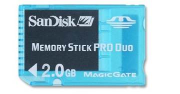 Sandisk Memory Stick Pro Duo Gaming 2GB Sony PSP