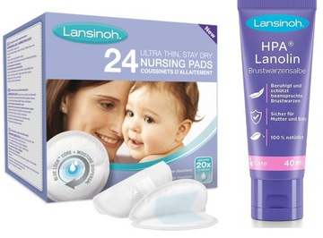 LANSINOH Lanolín HPA 40ml + ošetrovacie vložky 24