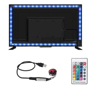 RGB USB 3M LED Páska podsvietenia TV + pilot