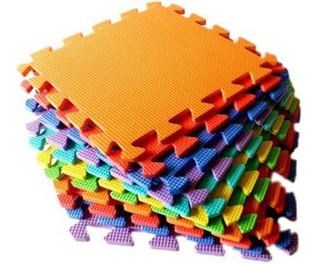 Pena rohož Eva puzzle veľké 30cm x 30 cm farebné