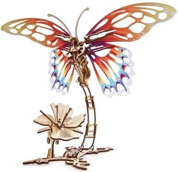 Uchars Drevený model Puzzle 3D Butterfly