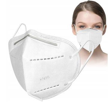 Maska Ochranná maska KN95 s 10 kusmi filtrom