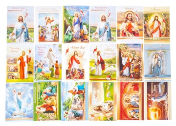 Zest.10PCS CARDS Pohľadnice pre Veľkonočné sviatky