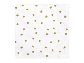 Hviezdice obrúskov, zlaté, 33x33cm, 20 ks.