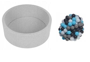 Suchý šedý bazén + 200 loptičiek, korálky super zábava