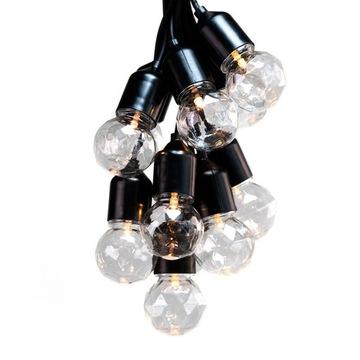 LED záhradné svetlá, girlanda elektriny na elektrinu