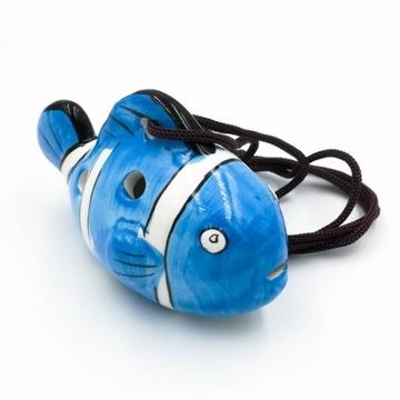 Mini keramická OCARINA NEMO BLUE + GRIPS