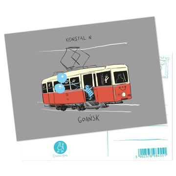 Pohľadnica gdańsk električka konstal n
