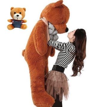 VEĽKÝ plyšový medveď GIANT PLUSOVÁ HRAČKA 140cm + MASKOT