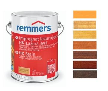 Remmers lasur 5l lazúra na drevo 3v1 FARBY