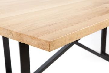 Drevený stôl na drevený dub 4cm na šírku dimenzie 80cm