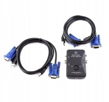 2 USB PORT KVM VGA Prepnúť do počítača