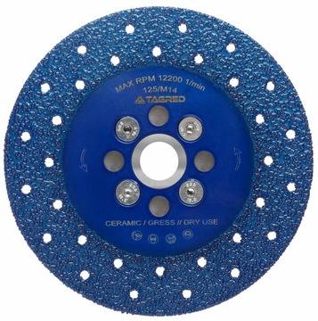 Diamantový štít na rezanie brúsenia 125mm 2IN1