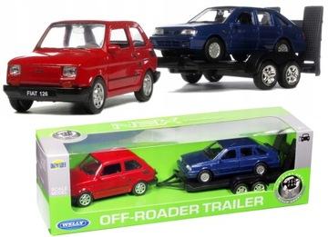 Kovové autá Polonez Caro Fiat 126p Laweta Toddler