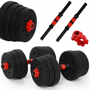 Solid Dumbbell 20kg 2x10kg 2x Dumbbell Dumbbell Set