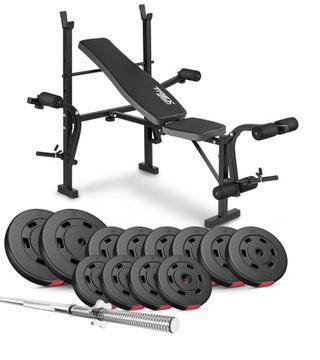Bodybuilding Set 69KG s tréningovým stolom