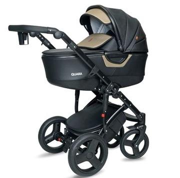 Kočík COTO BABY 2v1 Quara (L) Len Black / Gold Eco 5