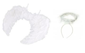 Anjelské krídla s PORODÍ + AUREOLA betlehemské prestrojenie
