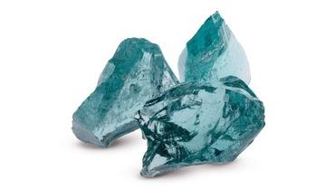 Dekoratívne kamenné sklo pre gabiony tyrkysové 1 KG