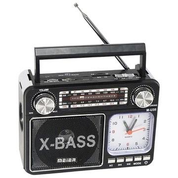 Rádio s hodinami a LED svetlom Meier Mp3 USB FM AM