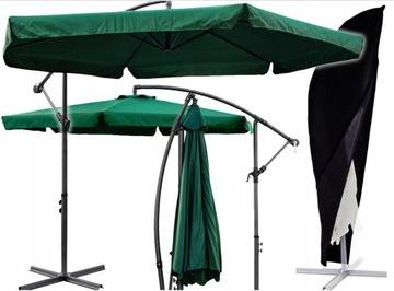 Veľký skladací záhradný dáždnik 350cm + KRYT
