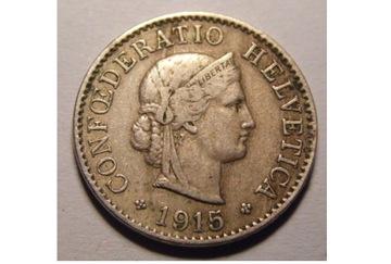 5 RAPPEN 1915 Švajčiarsko
