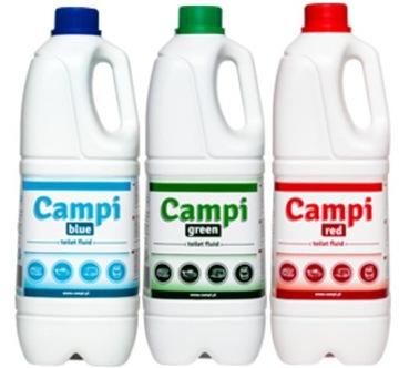 CAMPI 2L X 3 Kvapalina Kit pre turistické WC