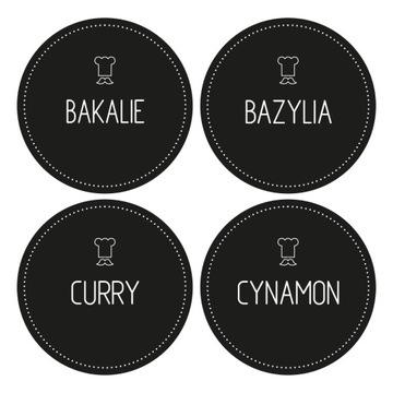 Nálepky, etikety na nádoby na korenie 96 kusov