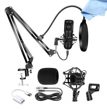 Kit Kapacitný mikrofón XLR POP držiak filtra