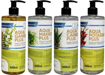 Sada hnojiva sada pre rastliny Aquarium 4x500ML