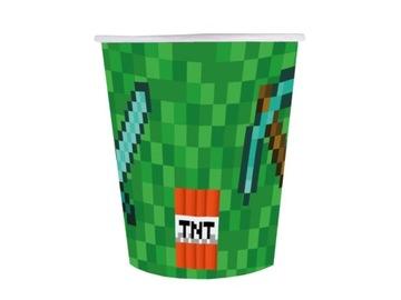 Poháriky k narodeninám Pixely 250 ml, 6. narodeniny TNT