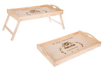 Raňajkový stôl pre posteľ pod notebookovou zásobníkom